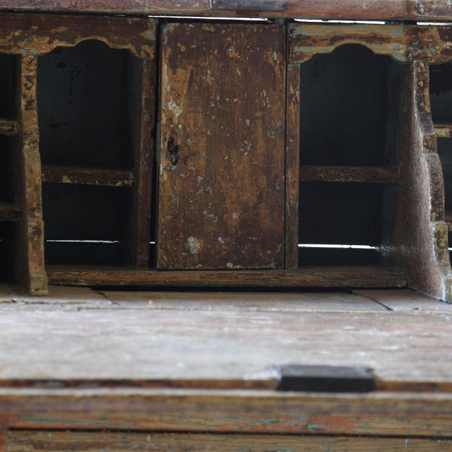Mid 18th Century Dutch Rococo Painted Desk For Sale - Image 5 of 9