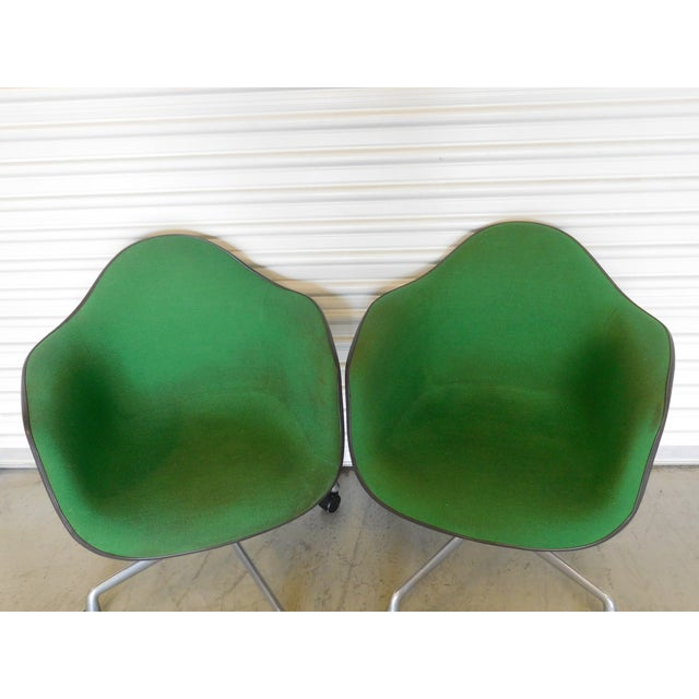 1979 Herman Miller Green Office Chairs - Pair - Image 6 of 11