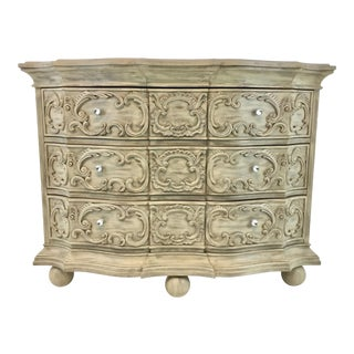 Drexel Heritage Gustavian Style Three Drawer Greige Chest For Sale