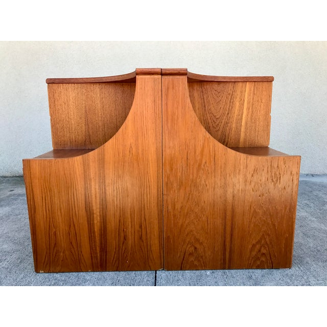 Danish Modern Teak End Tables- A Pair - Image 8 of 11