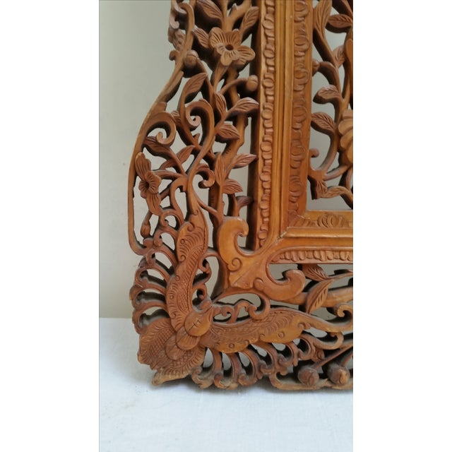 Mid 19th Century Antique Anglo Indian Carved Wood Frame For Sale - Image 5 of 9