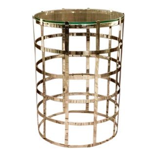 Cyan Design Modern Nickel Grid Side Table For Sale