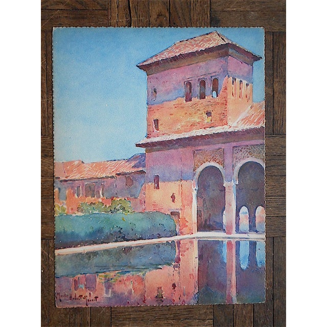 Vintage Lithograph Spanish View-Granada - Image 2 of 3