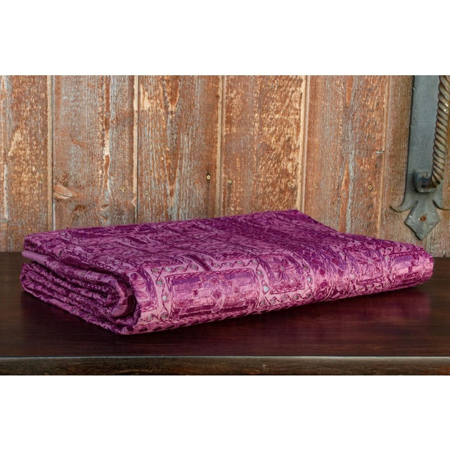 Purple Lilac Sheesha Coverlet For Sale - Image 8 of 8