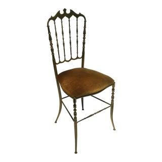 Chiavari Brass Ballroom Vanity Chair