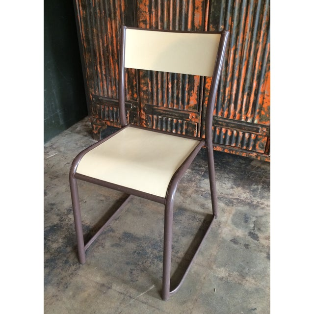 French Vintage Industrial Dining Chairs - Set of 6 - Image 6 of 10