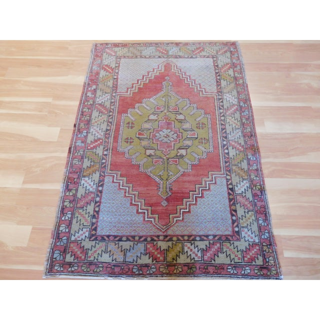 Vintage Turkish Oushak Rug - 3′6″ × 5′4″ - Image 5 of 5