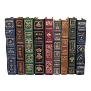 Franklin Mint Library Leather Bound Books - Set of 9 For Sale