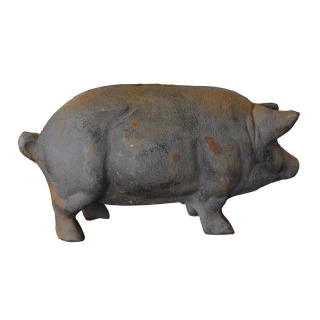 Antique Large Cast-Iron Pig Bank - Image 3 of 6