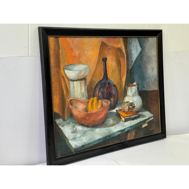 Midcentury Still Life Oil Painting For Sale - Image 4 of 12