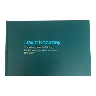 "2019 ""David Hockney Something New... Continued"" First Edition Gallery Exhibition Art Book For Sale"