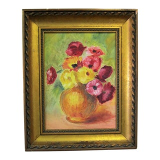 Vintage Floral Still Life Painting For Sale