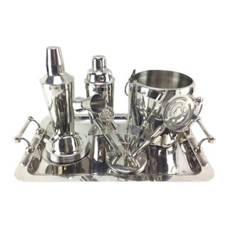 Stainless Steel Barware Set For Sale