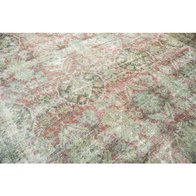 "Old New House Vintage Distressed Mahal Carpet - 10'5"" X 13'11"" For Sale - Image 4 of 13"