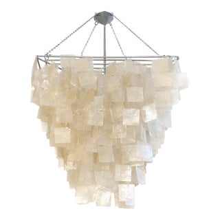 Capiz Shell Chandelier For Sale