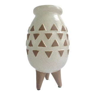 Boho Standing Pottery Vase For Sale