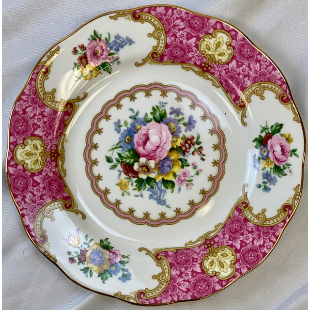 Mid 20th Century Vintage Royal Albert Lady Carlyle Bread & Butter Plates - Set of 8 For Sale - Image 5 of 7