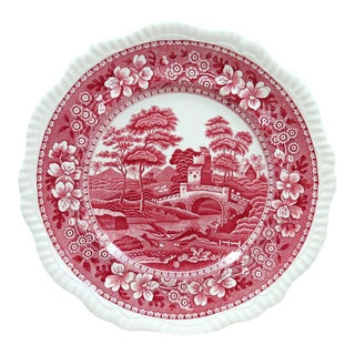 Vintage Copeland Spode's Tower Dinner Plate - Pink Transferware