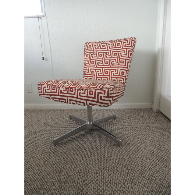 Metal Mitchell Gold + Bob Williams Red and Natural Accent Chair For Sale - Image 7 of 7