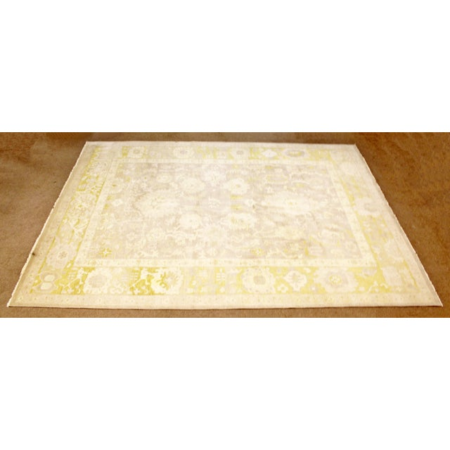 Mid-Century Modern Mid Century Modern Large Rectangular Safavieh Sultanabad Indian Wool Area Rug For Sale - Image 3 of 8