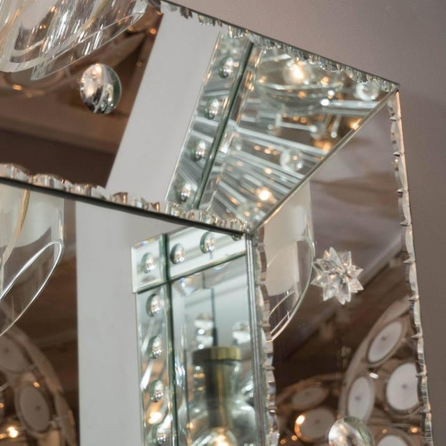 Silver Custom Pie Crust Mirror with Ponti's For Sale - Image 8 of 10