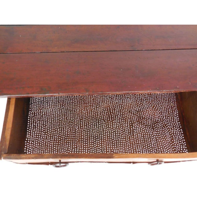 Rustic Coffee Table with Leather Bottom Drawer - Image 5 of 8