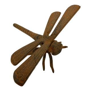 Large Vintage Metal Sculpture of a Dragonfly For Sale