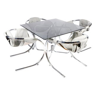 Sculptural Byron Botker Chrome Dining Set For Sale