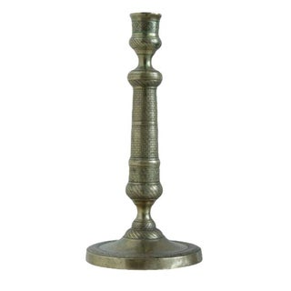 French Empire Bronze Candlestick. Early 19th Century For Sale