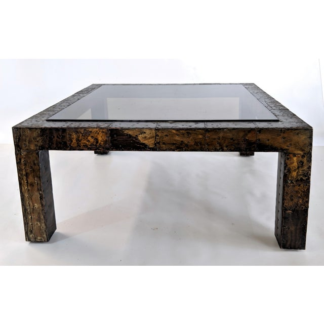 Mid-Century Modern 1960s Mid-Century Modern Paul Evans Brutalist Mixed Metals Patchwork Coffee Table For Sale - Image 3 of 11