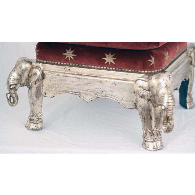 Vintage Silver Gilt Elephant Stool - Image 4 of 5