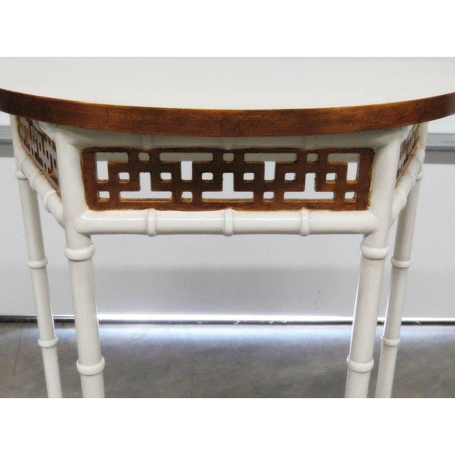 Mid 20th Century Asian Modern Design Demilune Console Table For Sale - Image 5 of 9