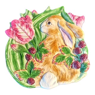Fitz & Floyd Blackberry Rabbit Canapé Plate For Sale