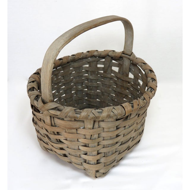 1900s Country Style Gray Basket For Sale - Image 13 of 13