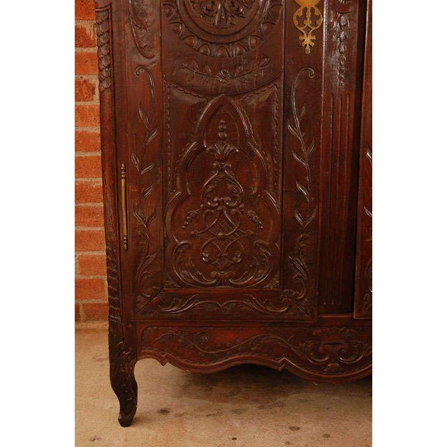 Antique Louis XV Armoire For Sale In Los Angeles - Image 6 of 10