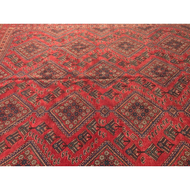 "Vintage Persian Yalameh Area Rug - 7'8"" x 9'7"" - Image 5 of 11"