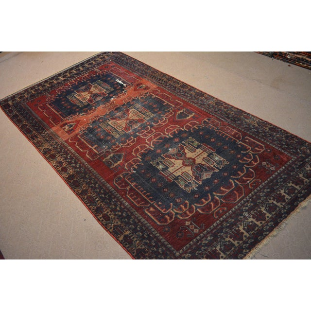 Islamic Antique Bohemian Style Handmade Rug - 3′11″ × 7′5″ For Sale - Image 3 of 5