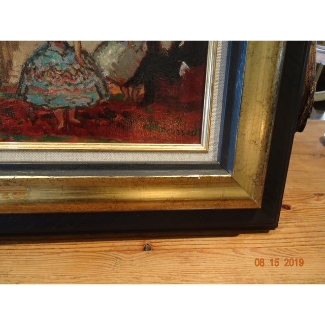 French Oil on Board by Marcel Cosson For Sale - Image 3 of 13