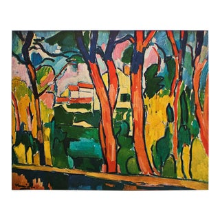 """1930s Maurice Vlaminck, """"The Red Trees"""" Original Period Swiss Lithograph For Sale"""