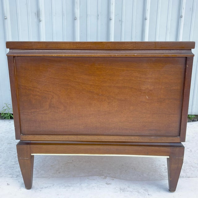 1960s Mid-Century Two Drawer End Table or Nightstand For Sale - Image 5 of 13