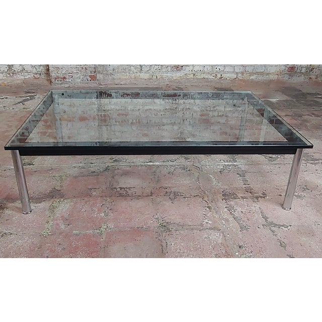 Modern Le Corbusier for Cassina Vintage Rectangular Glass Top Coffee Table For Sale - Image 3 of 10
