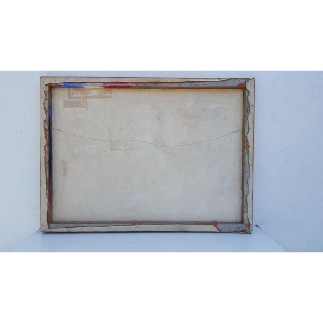 1977 Intermezzo Abstract Painting By Chester T. Kuziora - Image 10 of 11