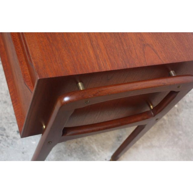 Danish Modern Diminutive Teak Chest on Casters by Arne Vodder - Image 6 of 11