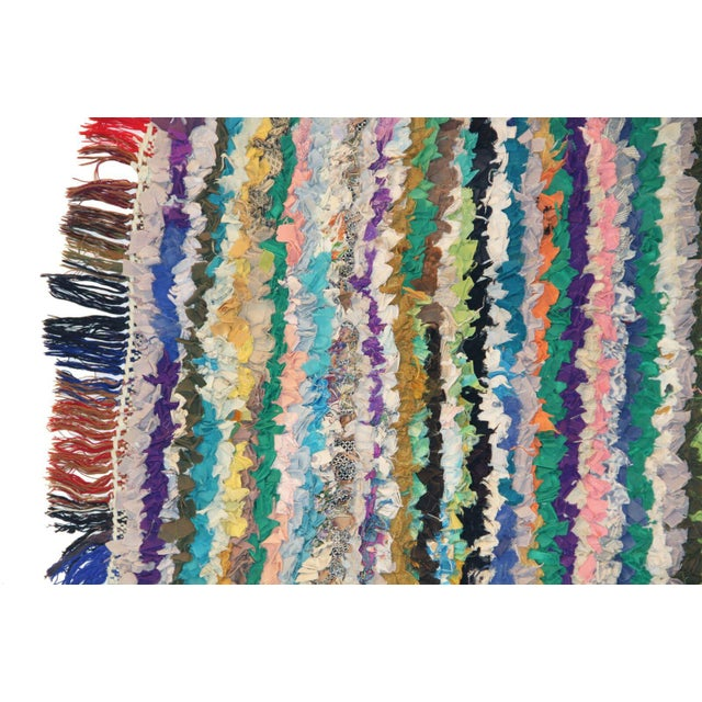 """A vintage Boucherouite rag rug. The New York Times on Boucherouite rugs; """"They seem more suitable for framing than..."""