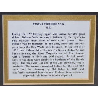 Framed Atocha Sunken Treasure Coin C.1622 Preview