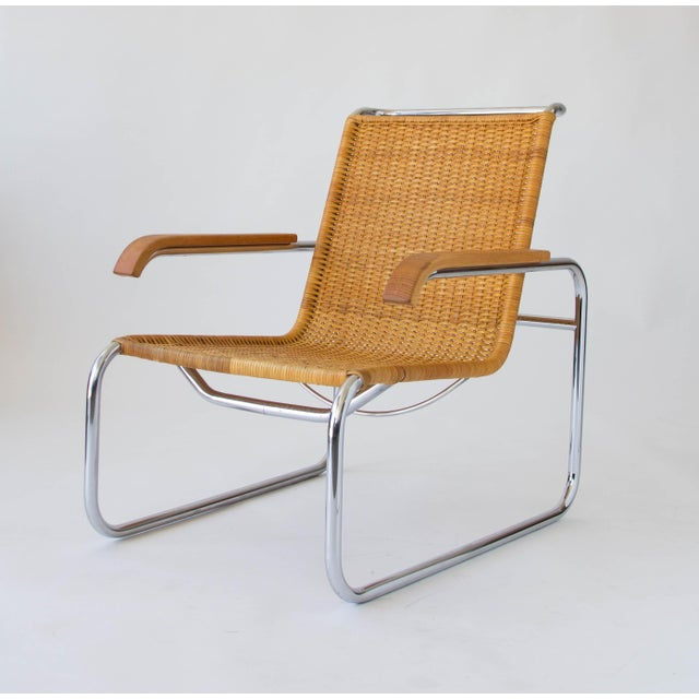Marcel Breuer for Thonet B35 Rattan Lounge Chair - Image 6 of 7