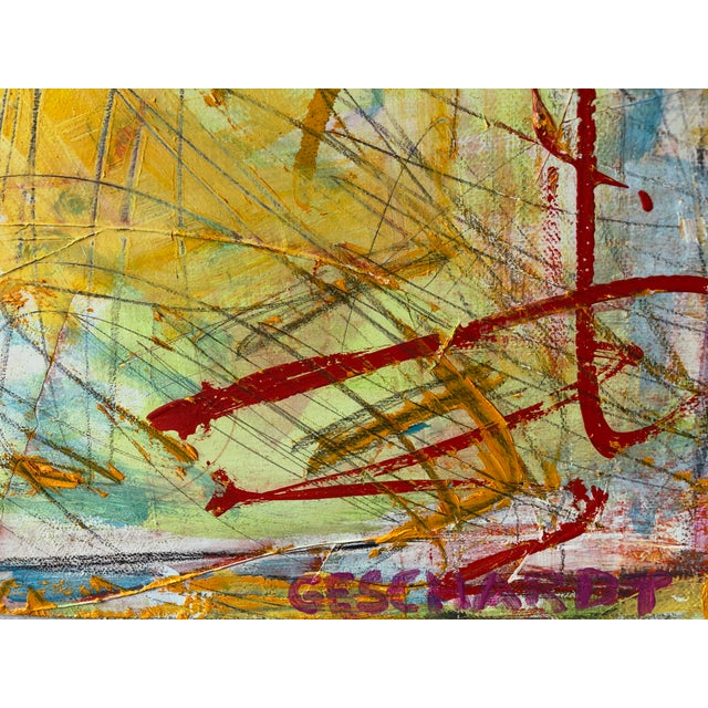 Perfect piece to brighten up any space. Great colors and texture. Unframed, the oil on canvas measures 30 high by 24 wide.