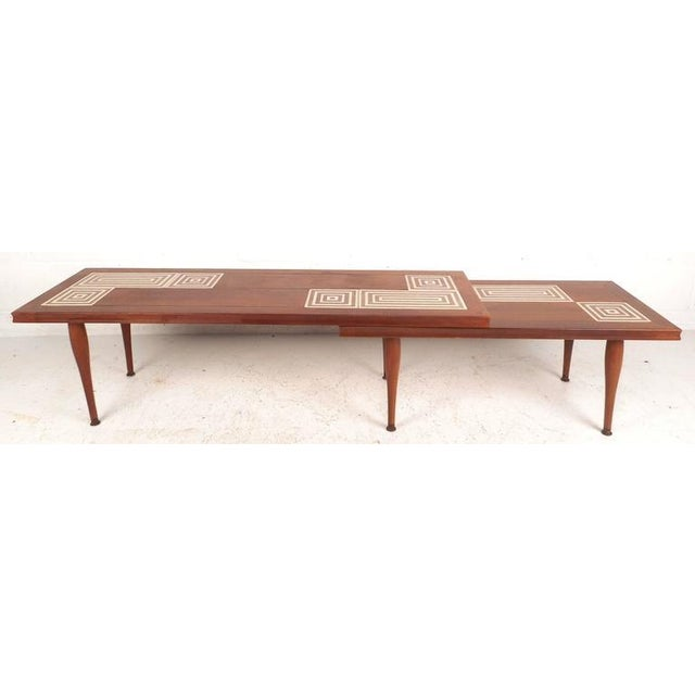 Mid-Century Modern Tile-Tip Pivot Coffee Table For Sale In New York - Image 6 of 11