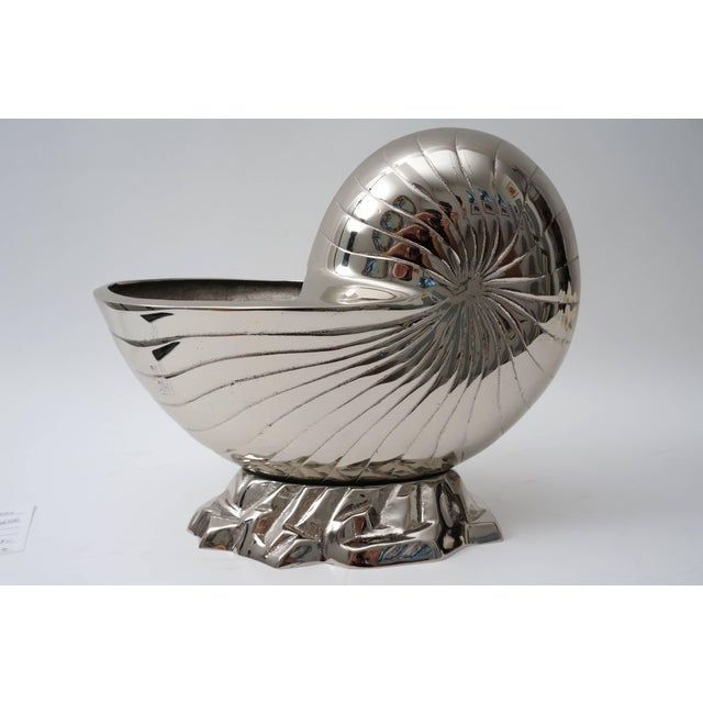 Nickel Plated Nautilus Cachepot For Sale - Image 4 of 10