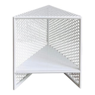Indoor Outdoor Sabin Triangle Side Table For Sale